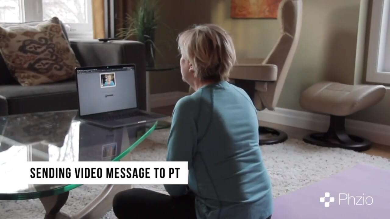 send video message phzio Physical Therapy Telehealth